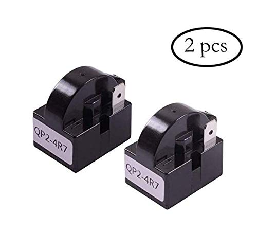 Bestsupplier 2 PCS QP2-4R7 4.7 Ohm 1 Pin Refrigerator PTC Starter Relay Black