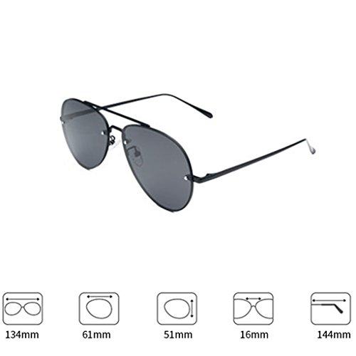 Gafas de de Delgadas 1 Polarizadas Gafas Coreanas DT Gafas 2 Mujer Sol Sol Color 4Xpqw