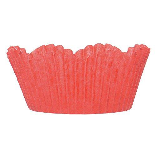 2 oz Red Petal Cupcake Liner Paper - 2''Dia x 1 1/4''H by NOVACART