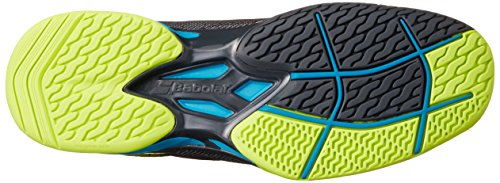 Babolat – Jet All Court Hombre Zapatillas de tenis azul, amarillo, gris (Grey/Blue/Yellow)