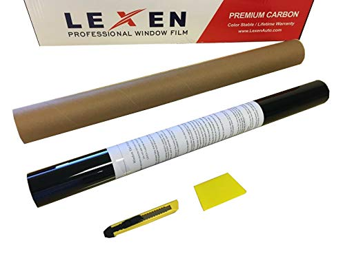 "LEXEN 2PLY 20"" x 10' Premium Carbon Window Tint Film"