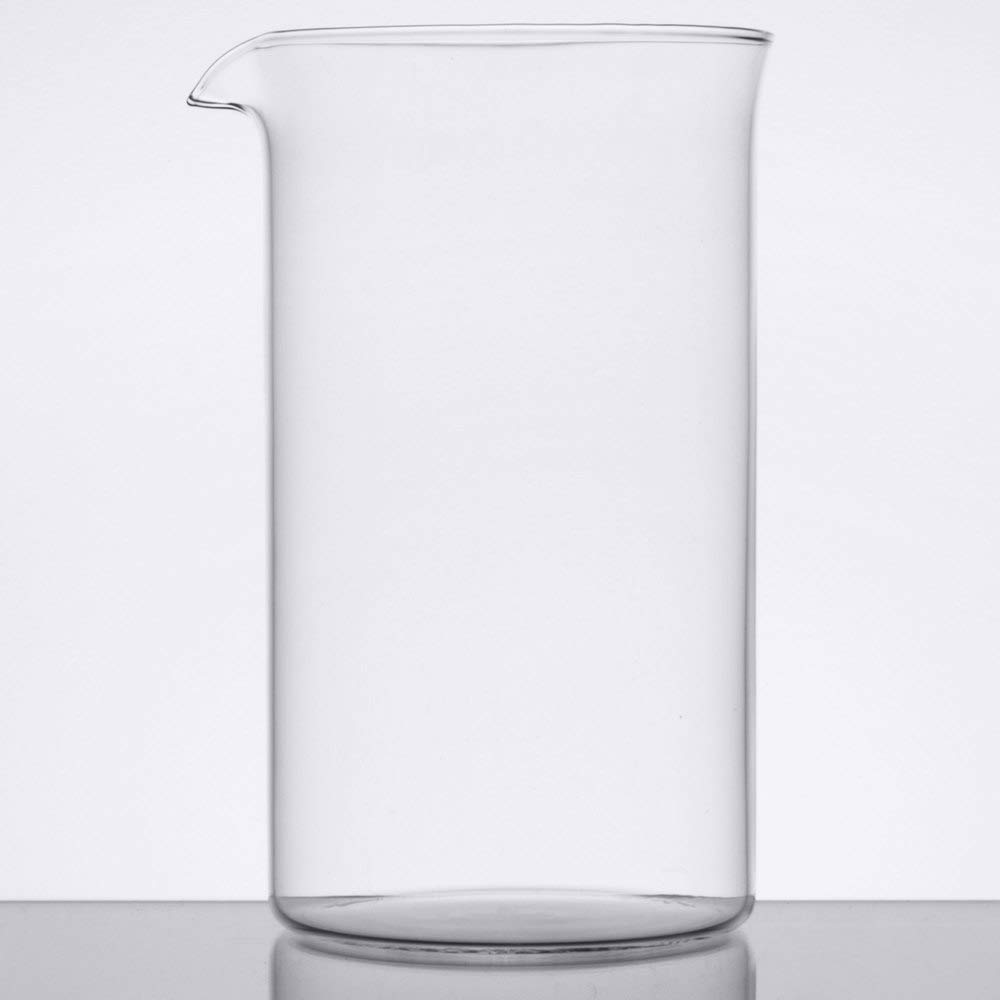 TableTop King 73590G 17 oz. / 2 Cup French Press Replacement Carafe/Stirring Glass - 12/Case