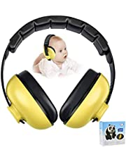 Baby Ear Protection Noise Cancelling Headphones for Kids Noise Reduction Hearing Protection Earmuffs for 0-3 Years Babies, Toddlers, Infant (Yellow)
