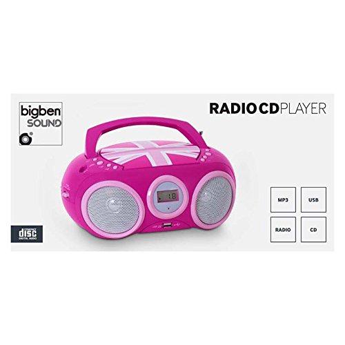BigBen Interactive CD 32 GB Girly Radio Radio-réveil Lecteur CD  Amazon.fr  Lecteurs  MP3   Casques e64dec915089