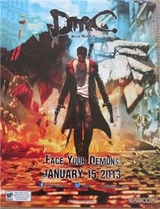 """DEVIL MAY CRY - 18""""x24"""" Original Video Game Poster MINT San Diego Comic Con SDCC 2012"""