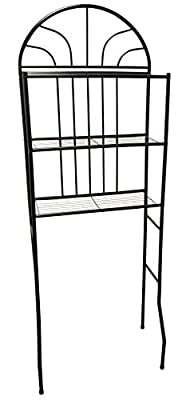 Home Basics 2 Shelf Steel Bathroom Space Saver, Black