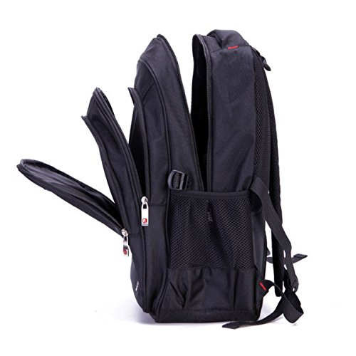 Bulage Bolsa Portátil Hombro Nylon Impermeable Al Aire Libre Viajes Estudiante Mochila Ordenador Mochila Viaje Juego Black