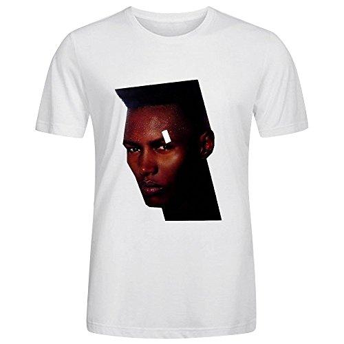 Grace Jones Living My Life Cool Mens T-Shirt Crew Neck White