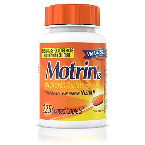 Motrin IB, Ibuprofen 200mg Tablets for Fever, Muscle Aches, Headache & Back Pain Relief, 225 ct. ()