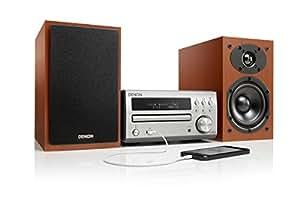 Denon D-M 40 - Sistema de audio (USB, MP3, WMA, 60W), color plateado y marrón