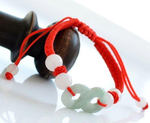 Feng Shui Jade Lucky Number 8 Bracelet for Prosperity Wealth and Abundance