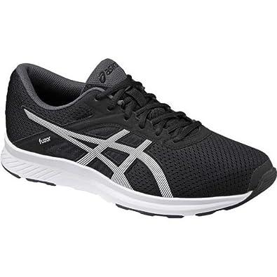 ASICS Mens Fuzor Black White and Dark Steel Running Shoes  10 UKIndia