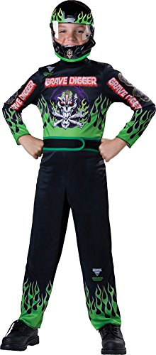 Boys Halloween Costume-Monster Jam Grave Digger Kids Costume Medium 8 -