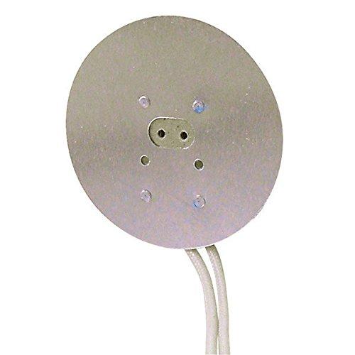 Porcelain Mini Bi-Pin Socket - 100 Max. Watt - For G5.3 GX5.3 and G6.35 Bases - Includes Heat Sink - 10 in. Leads - PLT (Gx5.3 Bi Pin Base)