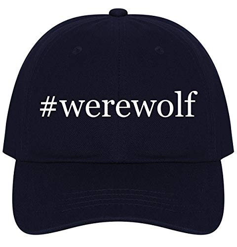 The Town Butler #Werewolf - A Nice Comfortable Adjustable Hashtag Dad Hat Cap, Navy -