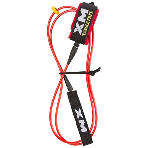 XM Surfboard Leash/Tangle-Free/COMP (.220in) // Made in USA / 3 Year Stoked Warranty (Leash Xm)