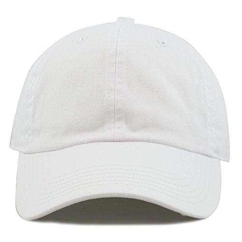 White Cotton Cap (The Hat Depot 300N Washed Cotton Low Profile Baseball Cap)