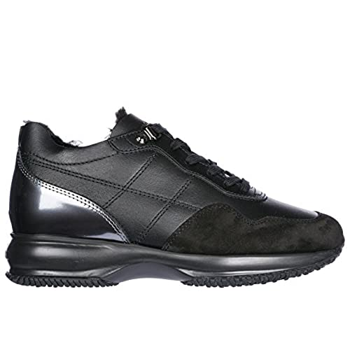 133056667d5 80% OFF Hogan Zapatos Zapatillas de Deporte Mujer EN Piel Nuevo Interactive  Negro
