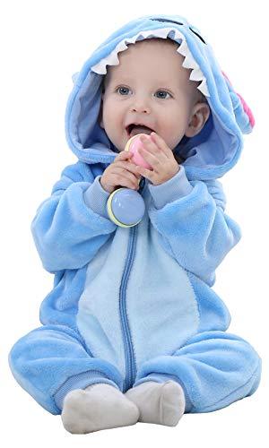 Baby Rompers Pasgeboren Meisjes Jongens Dieren Rits Hooded Jumpsuit Herfst Winter Flanellen Kleding Unisex
