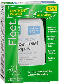 Fleet Rectal Care Pain Relief Wipes - 24 ct, Pack of 2