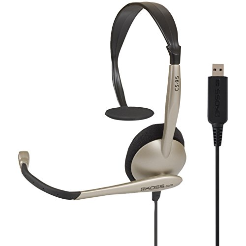 Usb Portable Headset - Koss Communications USB Headset with Microphone (CS95-USB)