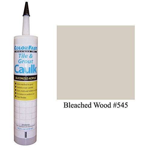 Color Fast Caulk Matched to Custom Building Products (Bleached Wood Sanded) (Bleached Wood)