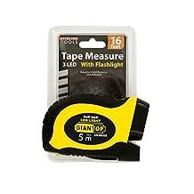 Bulk Buys OL583-1 Self-Locking Tape Measure with LED Flashlight