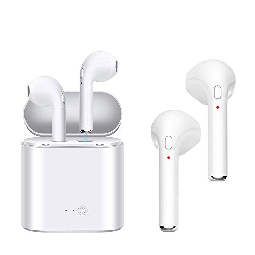 Price comparison product image Wireless Earbuds Stereo, Bluetooth Headphones Earphones Earbud with Mic Mini in-Ear Earbuds Earphones Earpiece Sweatproof Sports Earbuds with Charging Case for Apple iPhone X 8 7 6 Plus Samsung