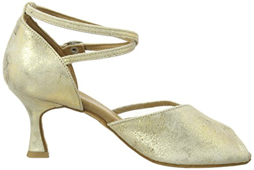 Diamant Diamant Damen Latein Tanzschuhe 020-087-017 - Zapatos de baile - standard & latino para mujer Oro (gold magic)