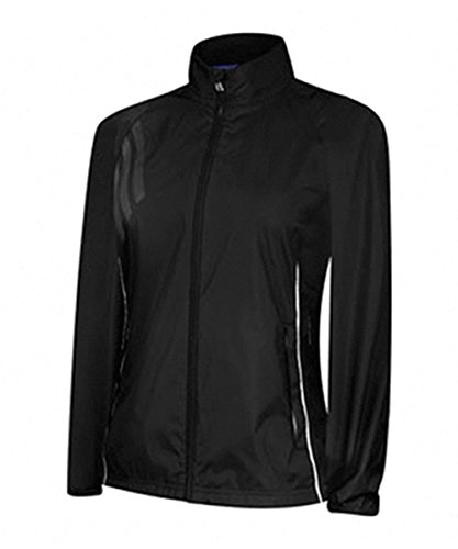 adidas Golf women's Climaproof Rain Provisional Jacket, Black/White, Small