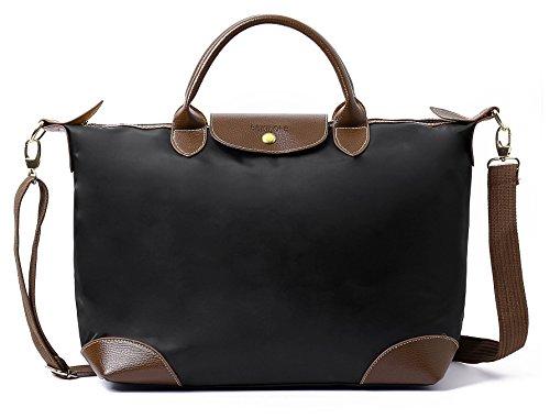 Waterproof Nylon Travel Stylish Bag BEKILOLE Black Women's Beach for Tote Women Crossbody Bags ZxA4XxEq