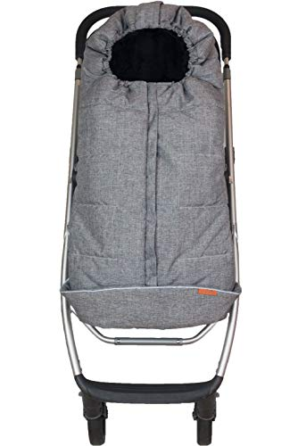 liuliuby CozyMuff Toddler Size - Weatherproof Footmuff with Temperature Control - Universal Fit for Strollers (Heather Gray)