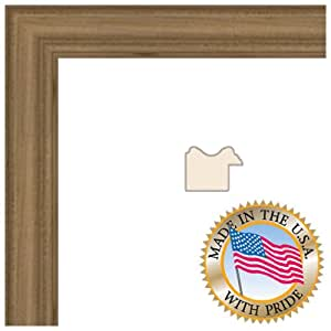 13x19 Clear Finish on Hard Maple Picture Frame - 1'' wide with Regular Glass and Foam Backing