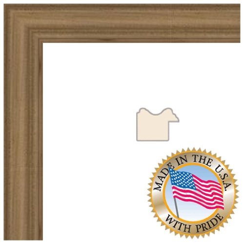 10x10 Clear Finish on Hard Maple Picture Frame - 1'' wide with Regular Glass and Foam Backing