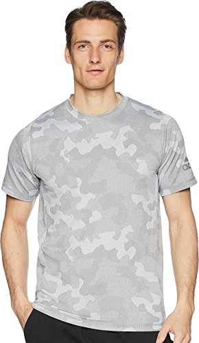 adidas Men's Hype Camo Tee Grey Three/White Medium