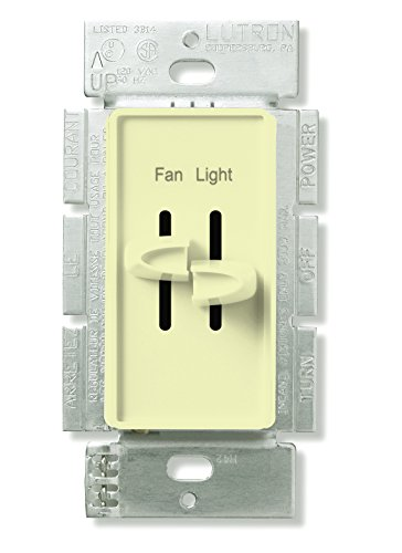 Lutron S2-LFSQ-AL Standard Switches Electrical Distribution Product, Almond ()