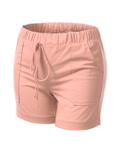 J.TOMSON PLUS Womens Linen Shorts Plus Size PEACH X-LARGE
