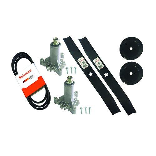"LT1000 42"" Deck Rebuild Kit Replaces 130794 Deck Spindles , 134149 Mulching Blades , 144959 Deck Drive Belt , 173436 Pulleys"