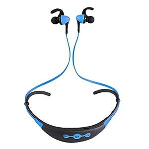 Aobiny Earphone Bluetooth Wireless In-Ear Stereo Headphones Waterproof Sports Headphones (Sky Blue)