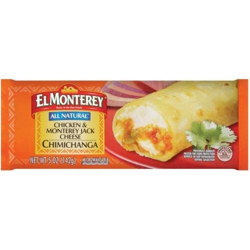 El Monterey All Natural Chicken and Monterey Jack Cheese Chimichanga, 0.312 Pound -- 24 per (Chicken Monterey Jack Cheese)