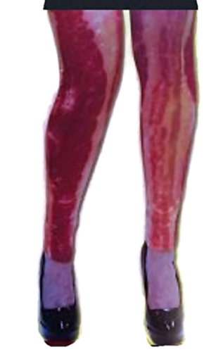 Adult Bacon Costume Leggings Tights