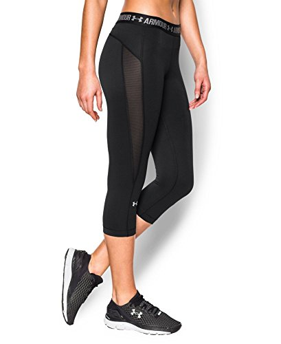 Under Armour Women's HeatGear CoolSwitch Capri, Black (001), Large (Under Armour Capri Pants compare prices)