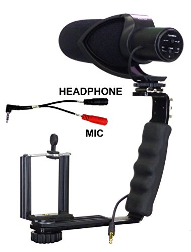 ALZO Smartphone Streaming Video Rig with COMICA CVM-V30 Shotgun Microphone and Breakout Cord (Shotgun Video)