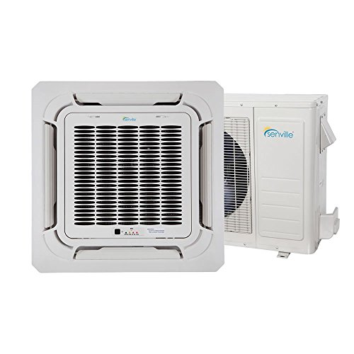 UPC 893088001430, Senville SENA-18IC-Z 18000 BTU Ductless Ceiling Air Conditioner and Heat Pump