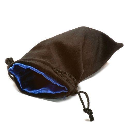 5'X8' Black Velvet Dice Bag with Blue Satin Lining by Koplow Games by Koplow Games