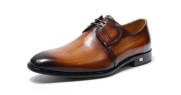 Amazon.com: Felix Chu auténtica Hombres de lujo zapatos de ...