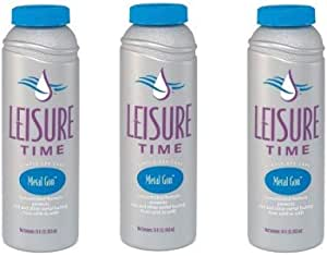 LEISURE TIME D Metal Gon Protection for Spas and Hot Tubs, 16 fl oz (Three Pack)
