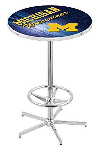 Holland Bar Stool L216C University of Michigan Licensed Pub Table, 36