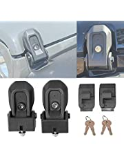Wocch Hood Latches for Jeep Wrangler JL JLU 2018 2019 2020 2021, Anti-Theft Hood Lock Catch Latches Accessories, 1 Pair