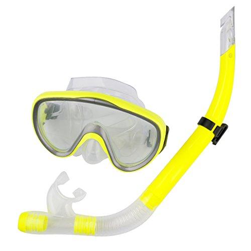 Swimming Scuba Anti-Fog Goggles PVC Mask Diving Glasses Yellow - 3